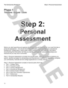 Step 2: Personal Assessment