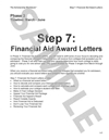 Step 7: Financial Aid Award Letters